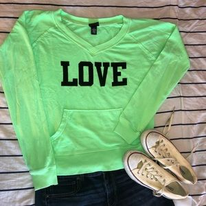 LOVE V-Neck Sweatshirt
